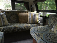 Custom-made coverings for removable upholstery