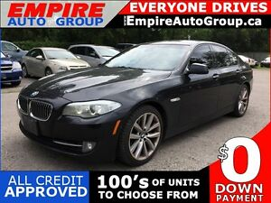 2011 BMW 5 SERIES 535I * RWD * LEATHER * REAR CAM * SUNROOF * BL