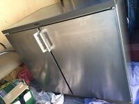 Undercounter stainless stew fridge freezer for sale good condition £80 free delivery