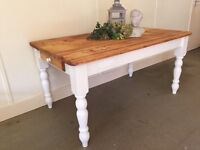 STUNNING 5FT SOLID PINE TABLE IN FARROW & BALL CAN DELIVER
