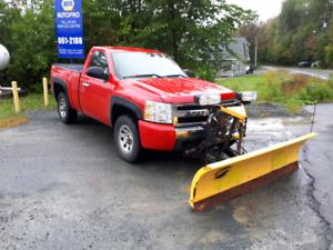 """2008 chev silverado 1500 4x4 with 7'6"""" fisher plow $9500"""