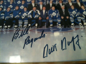 toronto maple leafs 1993/94 framed signed