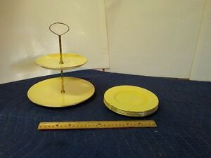 ROYAL WINTON CAKE SERVER & PLATES