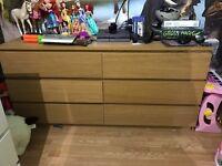 Malm 6 drawer chest