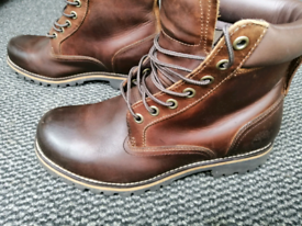men's brown like new Timberland boots UK 6.5