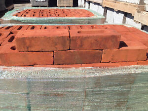 Vintage Salvaged Red Clay Bricks