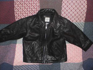 Boys Baby Gap (black genuine leather jacket)