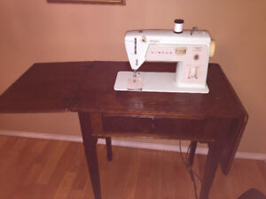 Singer Vintage Sewing Machine and Table