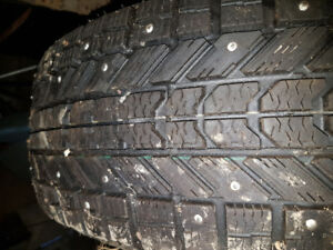 Two Winterforce Studded Tires