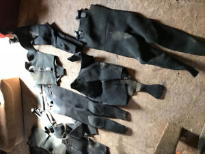 Variety of wetsuits