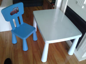 Table et Chaise MAMMUT de Ikea