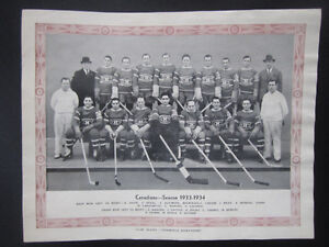 1934/35 — CCM team poster of the Montreal Canadiens