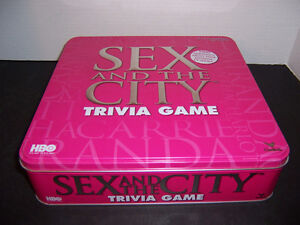 "2004 ""SEX IN THE CITY"" TRIVIA GAME - LARGE PINK METAL TIN London Ontario image 1"