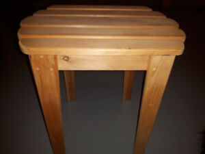 Small Wood Table Perfect for Beverages Patio or Dock