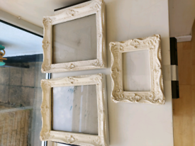 White resin picture frames x 3