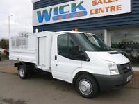 2011 Ford TRANSIT 350 MWB S/CAB 115ps CAGED TIPPER Manual Tipper