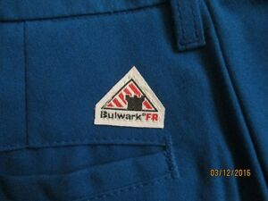 Bulwark flame resistant pants size 38 or 32  royal blue new