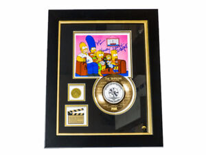 LIMITED EDITION GOLD 45 'THE SIMPSONS' CUSTOM FRAME