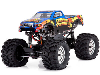 Redcat Racing Ground Pounder 1/10 Scale Electric Monster RC Truck Blue NEW