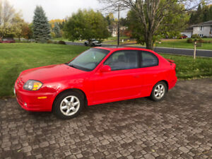 Safetied 2003 Hyundai Accent Coupe - Low Mileage $4000 OBO