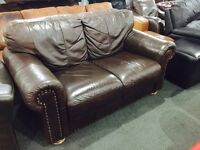 As new stunning leather 2 seater sofa