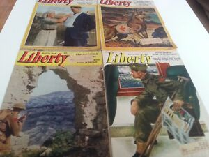 12 WWII LIBERTY MAGAZINES (10 from 1944 - 2 from 1945)