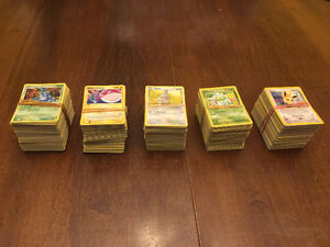 4 Piles of 200 Cards in Each