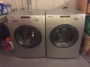 SAMSUNG DELUXE FRONT LOAD WASHER AND DRYER EXCELLENT CONDITION