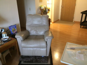 Leather couch, loveseat rocker/recliner
