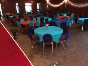 Table covers and chair back covers