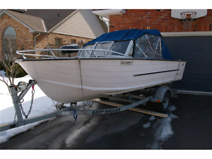 17' Aluminum Fishing Boat with 45hp Honda 4 stroke engine