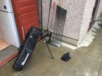 Golf clubs. Full set of graphite irons, golf bag, driver & fairway wood. Lovely condition