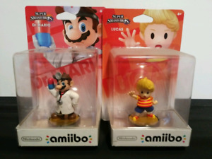 Animal Crossing, Super Smash Bros., and Toad Amiibos