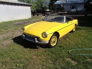 Yellow MGB Convertable