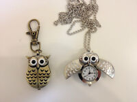 NICE OWL KEY CHAIN WITH CLOCK ONLY $6.99