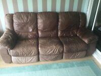 Free 3 piece leather suite