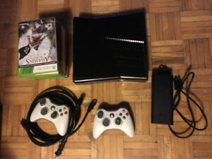 Xbox 360 console, 2 controllers, misc. games