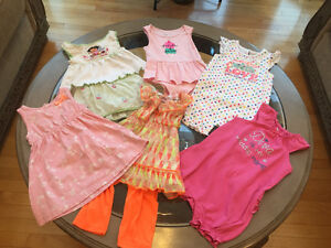 6 Adorable outfits for 12-18 month girl for $10