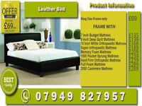 A Single, Smal Double, Double And Kingsize Leather Bed Frame Available , Black and Brown Colors