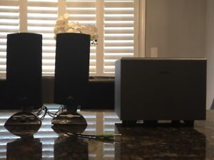 Insignia 3 Piece Computer Speaker System & ACER Keyboard