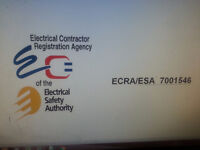 Master Electrician - ESA licenced (Authorized Contractor)