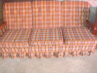 COUCH- WOODEN VINTAGE SOFA