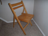 4 Solid wood folding chairs