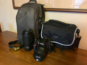 Nikon D600 bundled with 24-85mm and 70-300mm AFS VR lenses