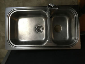 Évier double acier inoxydable, Sink double stainless steal