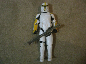 Star Wars 12 Inch YELLOW CLONE TROOPER Action Figure Strathcona County Edmonton Area image 1