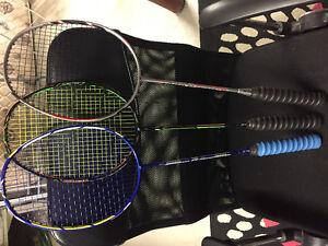 Yonex badminton racquet nanospeed 9900, Duora 10,77,88