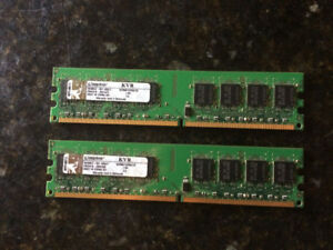 Kingston ValueRAM 1 GB 667MHz DDR2 DIMM Desktop Memory