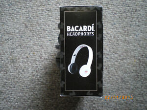 bacardi headphones collector item white or black