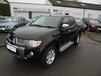 MITSUBISHI L200 2.5DI-D TURBO DIESEL WARRIOR TWINCAB PICKUP 58reg BLACK NO VAT